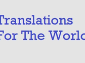 Translations For The World